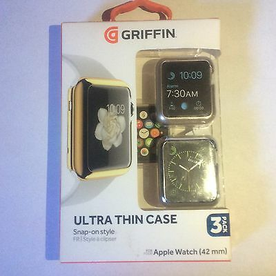 Griffin technology 3 QTY Ultra Thin Case 42 mm Apple Watch Snap On GB42093