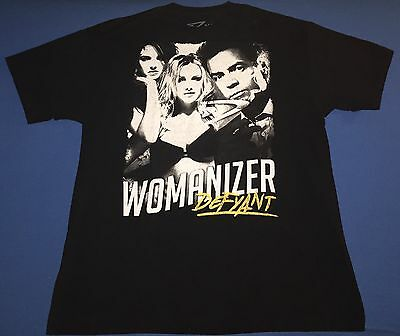 Rare Britney Spears Womanizer Defyant Mens Adult Black T Shirt Size Xl