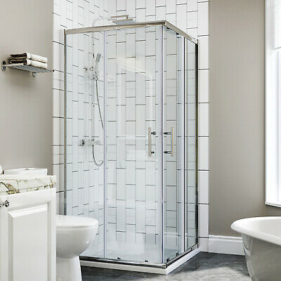 Frameless Square Corner Entry Shower Enclosures Cubicle Pivot Door With Tray