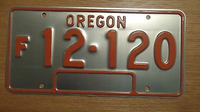 Oregon Farm Truck License Plate (unused 60's vintage)
