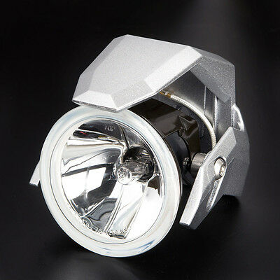 "Magazi 3"" round driving light silver ABS shield H3 12V 55W for motorcycle x PAIR"