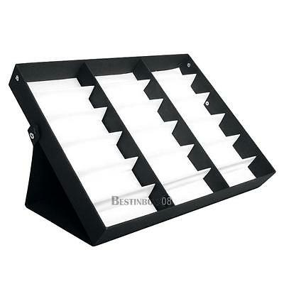 Sunglasses Glasses Organiser Display Stand Storage Black Box Case Tray 18 Grid