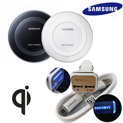 OEM Samsung Galaxy S7 Note5 Wireless Charger Pad/LED Cable/LED Fast Car Charger