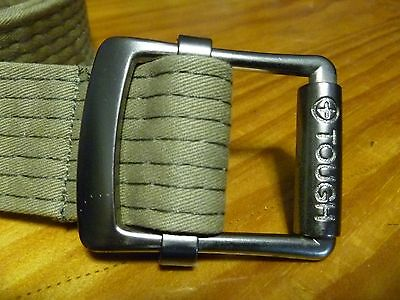Casual Camo Green Tough Jean Belt +Leather Tip & 2 Black Leather Belts 3x Set