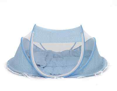 Baby Crib Bed Portable Foldabe Bed Mattress For Toddler With Mosquito Net Tent