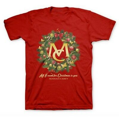 Mariah Carey Official All I Want For Christmas Nyc T-Shirt Rare Tour Small Red