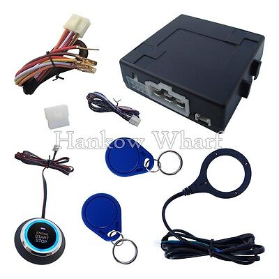 RFID Car Alarm Release Engine Push Button Remote To Start Flameout Stock In USA