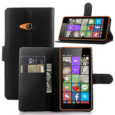 New Luxury Flip Stand Leather Cover Wallet Case for Microsoft Lumia Phones