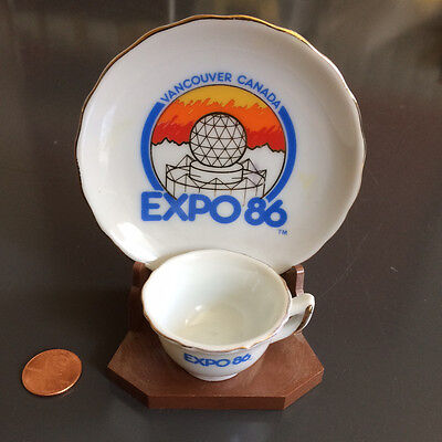Expo 86 Vancouver, Canada Tea Demitasse Cup & Saucer Made in Japan