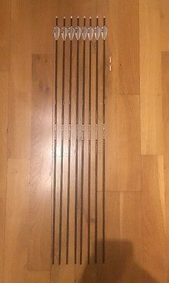"8 Easton X10 500 Series A C5 Arrows Fletching & Nocks (no Points) 28"" 1/8 Shaft"