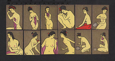 Serie of Old Japanese matchbox labels