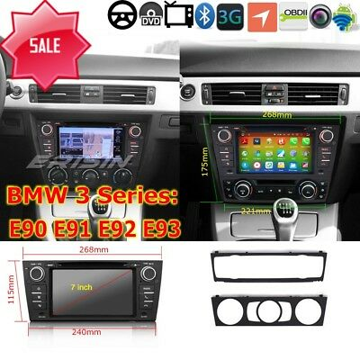 "Italia Autoradio for BMW 3 Series E90 E91 E92 E93 DAB+Android 5.1 Wifi 7"" 4790IT"
