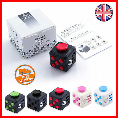New Fun Fidget Toy Stress Relief Cube Focus Kids ADHD AUTISM Gift Dice UK STOCK