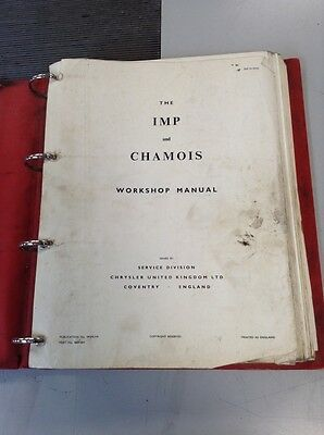 Chrysler Hillman Imp And Chamois Workshop Manual