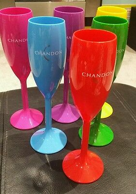 Moet Chandon Champagne Flutes x 6 ideal gift/party itm limited edition poolside