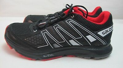 Mens Salomon XRShift Black Red Trainers Lace Up Running Mens Sport Shoes