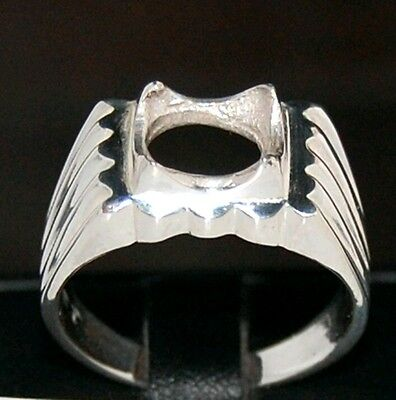Semi mount silver 925 mens ring setting size 8 910 11 12 oval 9 x 7 resize