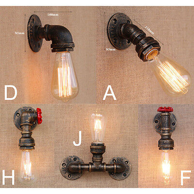 Vintage Industrial Loft Rustic Wall Sconce Wall Light Fixture Fitting 7919HC