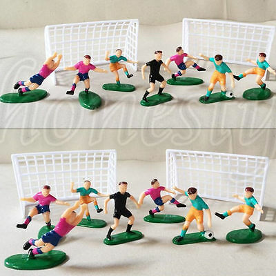 9Pcs Soccer Football Cake Topper Player Birthday Decoration Tool Model Mould Set