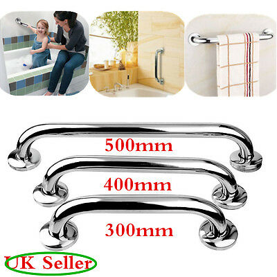 Stainless Steel Bath Shower Support Rail Disability Aid Grab Bar Handle 30/40cm