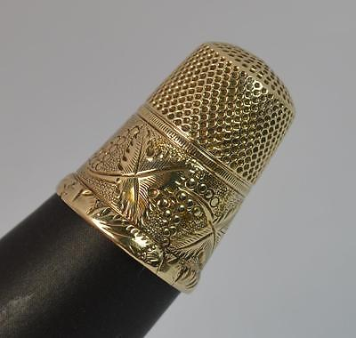 Antique Solid 9ct Yellow Gold Blackberry Design Thimble d1622