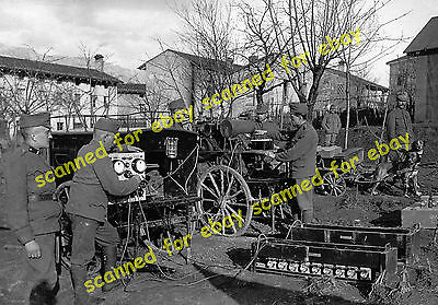 WW1 photo - Austrian Army accumulator charging trailers, Dornberk, Slovenia