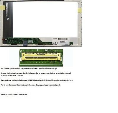 "LP156WH4 (TL)(A1) Display LCD Schermo 15,6"" LED 1366x768 40 pin"