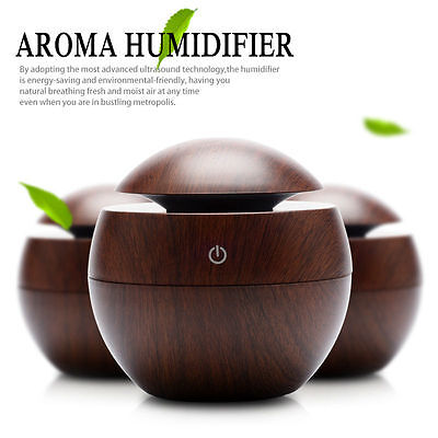 *HOT SALE Aroma Diffuser Air Purifier Humidifier Natural Wooden Ultrasonic Smoke