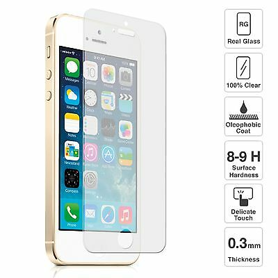 Apple iPhone5 5s 100% Genuine Tempered Glass Film Screen Protector for