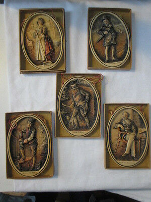 Five Boxed Osborne Dickens Character Plaques