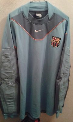 FC Barcelona Section Match Worn Camiseta Futbol Football Shirt Goalkepper XL