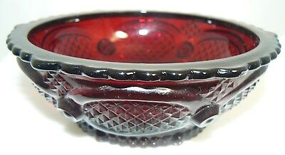 Vintage Ruby Red Cape Code Avon Candy Dish (W7-2)