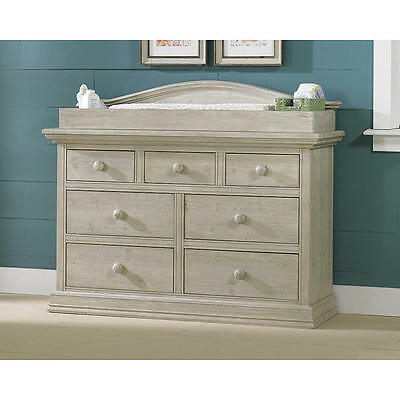 Cosi Bella Dresser Changing Topper - White Washed Pine