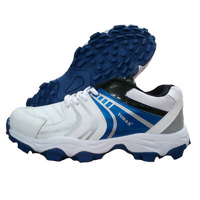 Thrax Revo Cricket Shoes White and Blue sports cricket good quality Durable