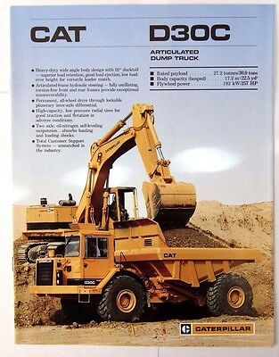 Caterpillar D30C Articulated Truck Sales Brochure