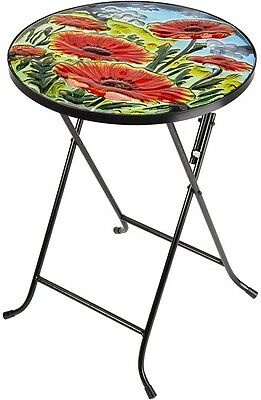 Patio Side Table Garden Outdoor Furniture Folding Coffee Small Bistro Tables NEW