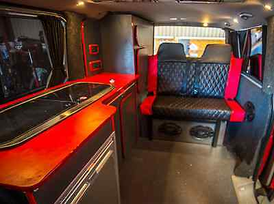 Strong Rock and Roll Bed, with seat belt option. VWT5, T4, Vito, Vivaro, Transit