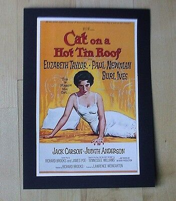 Elizabeth Taylor Cat On A Hot Tin Roof Ready To Frame Print - New