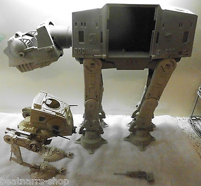 AT AT & AT-ST WALKER - Star Wars - Lucasfilm / Kenner 1982+ - Used Condition