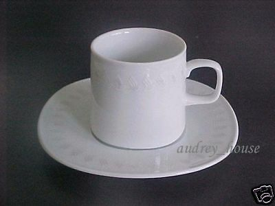 RARE !!  Singapore Airlines First-Business Class cup saucer set (Sango Japan)