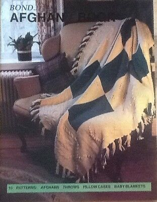 Bond Afghan Pattern Book for Bond, USM, Ultimate sweater machine Throws, pillows