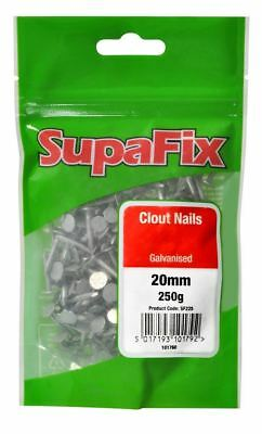 SupaFix Clout Roof Roofing Nails Galvanised Metal 20mm x 2.65mm 250g