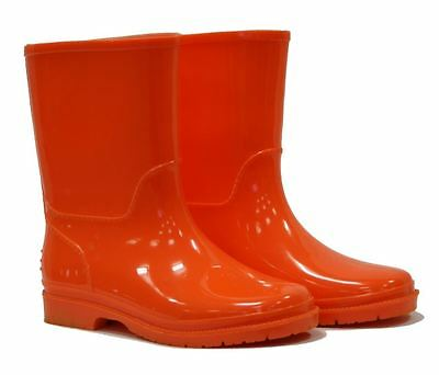 Town & Country Kids Childrens Rubber Wellies Wellington Boots Orange UK Size 2