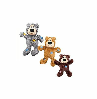 KONG WILD KNOTS BEAR PLUSH SQUEAKY DOG PUPPY TOY KNOTTED ROPE Small/Medium