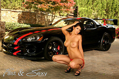 Topless Brunette with Big Boobs and an ACR Viper