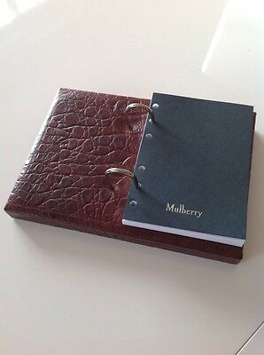 Beautiful And Rare Mulberry Desk Organiser In Brown Nile Leather