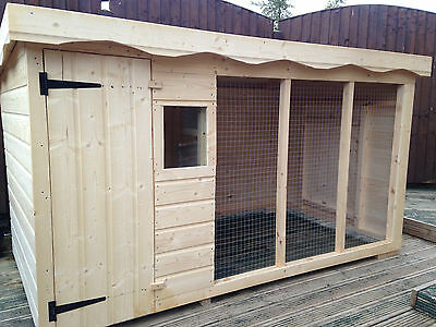 Dog Kennel And Run  8Ft X 4Ft ** Delivery Within 5 Working Days **