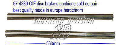 Triumph 97-4380 stanchions hardchrom pair disc brake 73- best quality standrohre