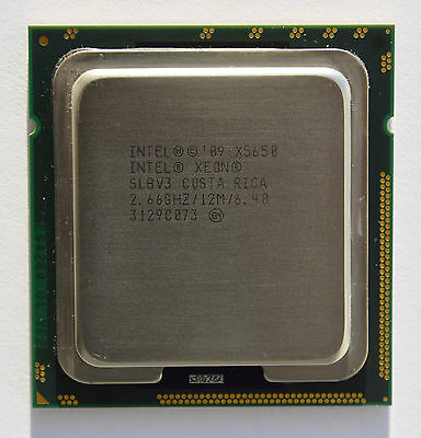 Intel Xeon Processor X5650 SLBV6, 6 core, 2.66 GHz, 12M Cache, 6.40 GT/s
