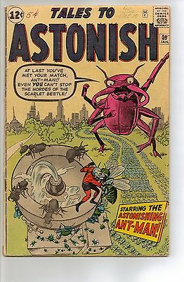 Tales To Astonish # 39 - G/VG 3.0 - 1963 Ant Man; 1st Appearance Scarlet Beetle